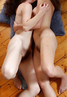 Daina and Rosie in lesbian makeout session