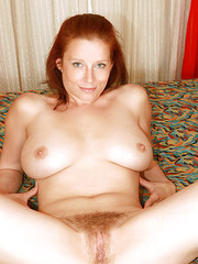 Hairy redhead gets her bush fucked